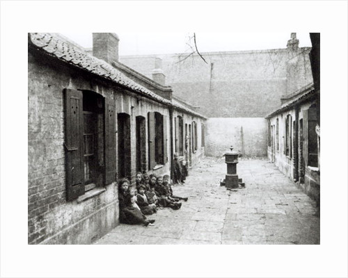 London Slums by English School