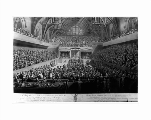 The Trial of Warren Hastings before the Court of Peers in Westminster Hall in 1788 by English School