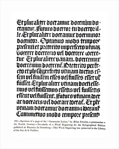 A page of the 'Grammaire Latine', by Aelius Donatus by German School