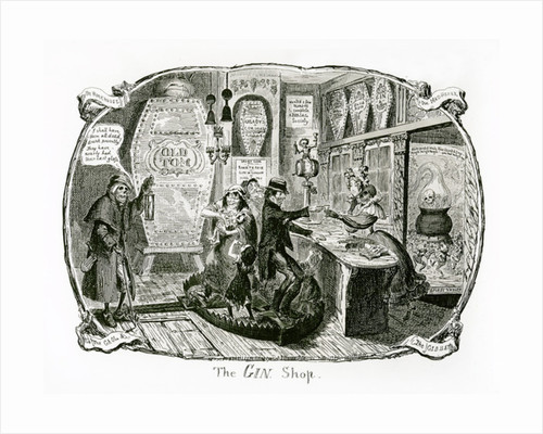 The Gin Shop by George Cruikshank