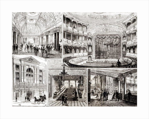 The Empire Theatre, Leicester Square by English School