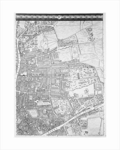 A Map of Shoreditch and Whitechapel, London by John Rocque