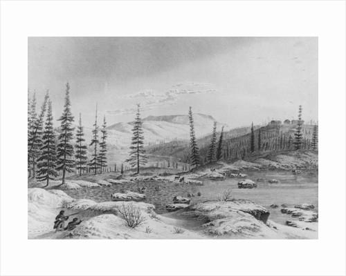 Hunters stalk caribou at Fort Enterprize on Franklin's expedition by George Back