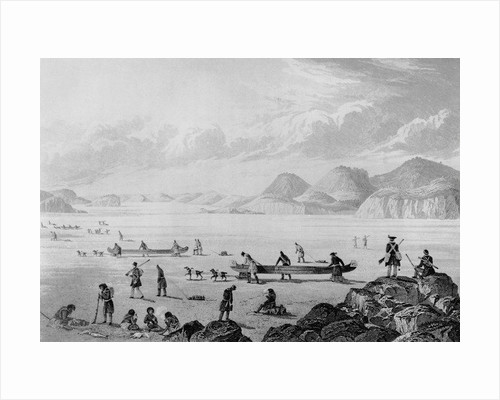 Franklin's expedition passing through Point Lake by George Back