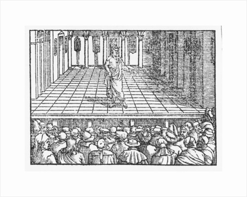 Allegorical game of boules by Italian School
