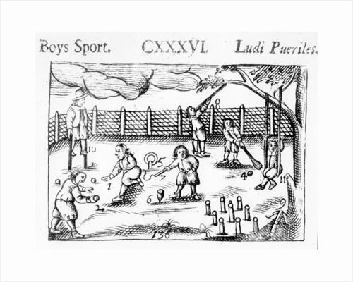 Boys' sport from 'Orbis Sensualium Pictus' by John Amos Comenius