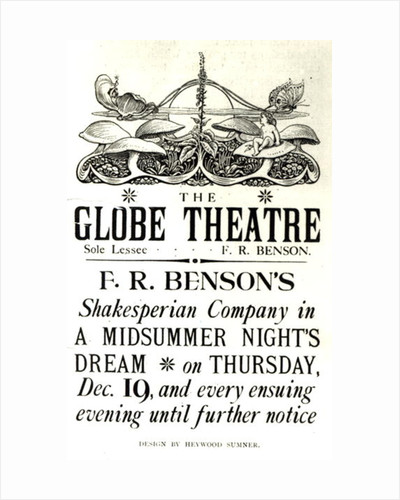 Poster advertising 'A Midsummer Night's Dream' by English School