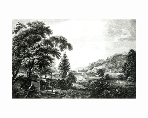 A Design to represent the beginning and completion of an American Settlement or Farm by Paul Sandby