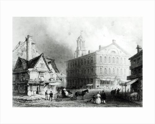 Faneuiel Hall, Boston by William Henry Bartlett