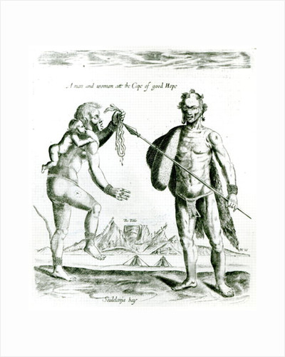 A man and woman of the Cape of Good Hope by English School