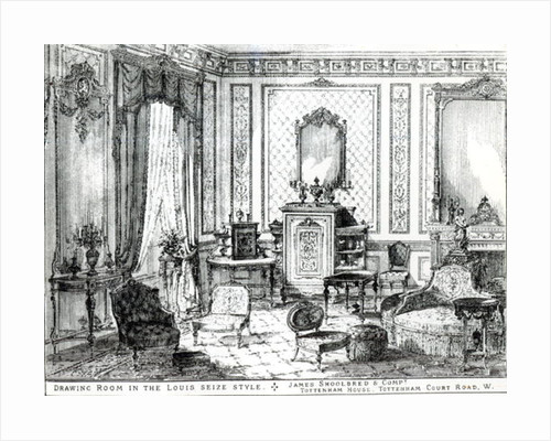 Drawing Room in the Louis Seize Style by English School