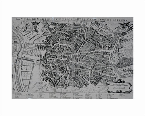 Map of Madrid by Spanish School