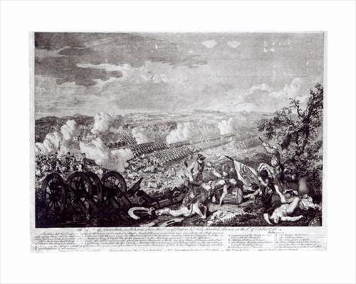 Battle of Lobositz by English School