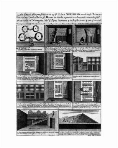 Shepherd's escape form Newgate Prison by English School