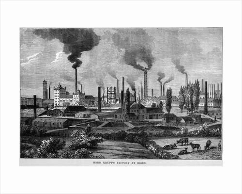 Herr Krupp's Factory in Essen, Germany by English School