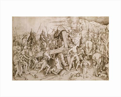 Christ carrying his cross by Israhel van