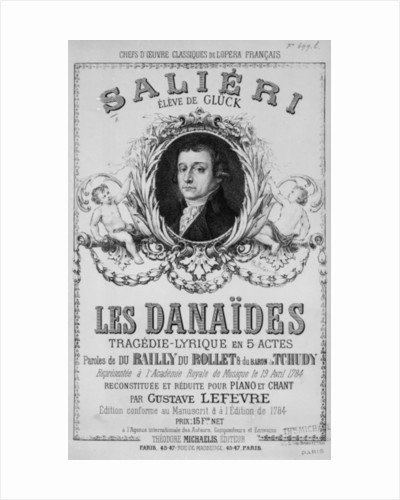 Advertisement for 'Les Danaides' by French School