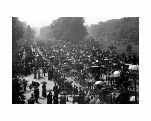 Rotten Row in Hyde Park, London by English Photographer