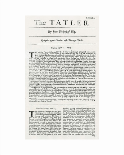 First issue of 'The Tatler by English School