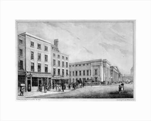 View along Aldersgate Street and St Martin-le-Grand to St Paul's Cathedral by Nathaniel Whittock