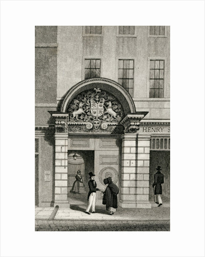 Barber Surgeon's Hall, Monkwell Street by Thomas Hosmer Shepherd