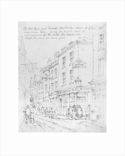 The Old Hare and Hounds, Buckridge Street, St Giles in 1818 by English School