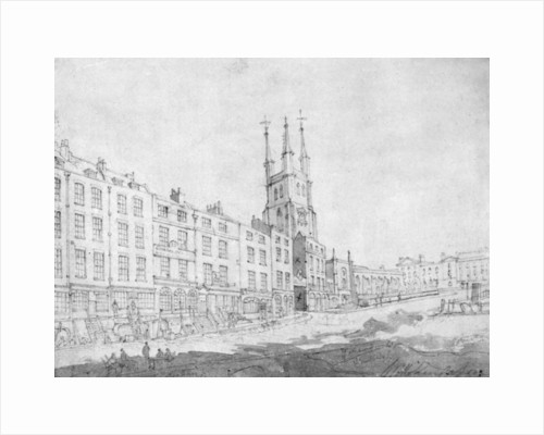 View of Snow Hill undergoing improvements by William Capon