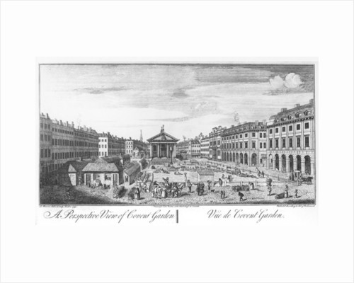 A Perspective View of Covent Garden by I. Maurer