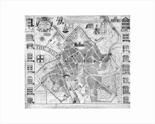 A New and Exact Plan of the City of York by English School