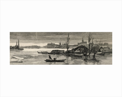 The disastrous floods in Austria-Hungary: View of Raab lately inundated by the Danube by English School