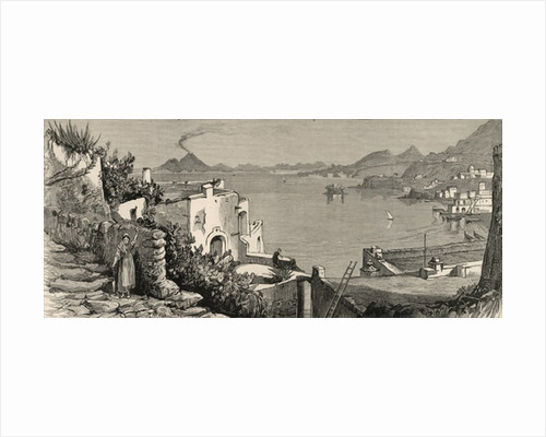 The Disastrous Earthquake at Ischia: The beach and town of Casamicciola from the village of Lacco by English School