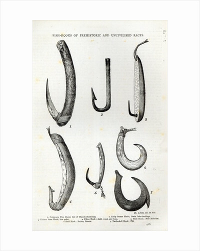 Fish-hooks of Prehistoric and Uncivilised races by English School