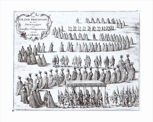 Grand Procession of the Sovereign and the Knights of the Garter at Windsor by Wenceslaus Hollar