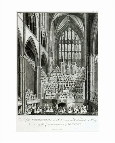 View of the Orchestra and Performers in Westminster Abbey, during the Commemoration of Handel by Edward Francis Burney
