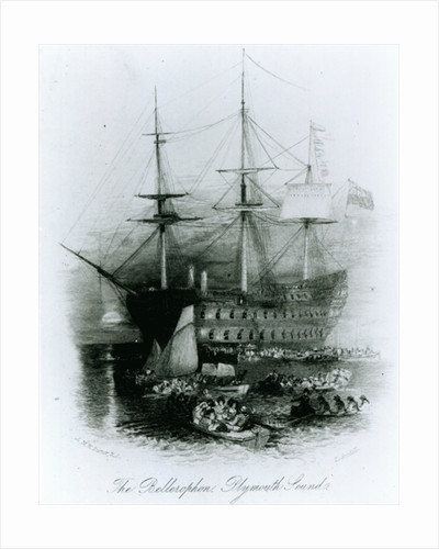 The Bellerophon at Plymouth Sound in 1815 by Joseph Mallord William Turner