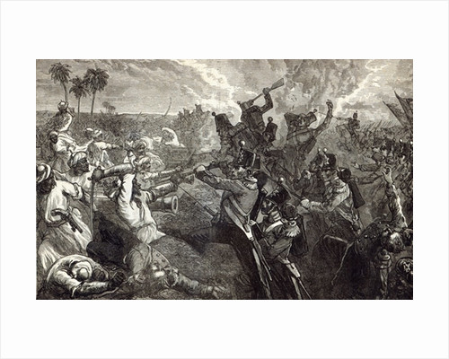 The Battle of Ferozeshah by English School
