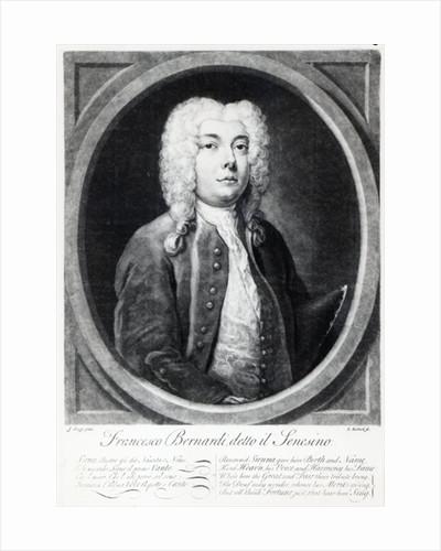 Francesco Bernardi Senesino by Joseph Goupy
