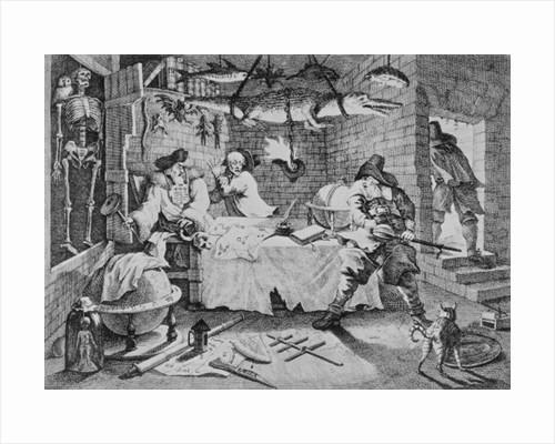 Hudibras beats Sidrophel and his man Whachum by William Hogarth
