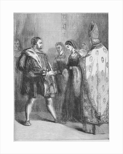 Marriage of Henry VIII and Catherine Parr by English School
