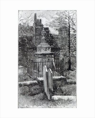 Hogarth's tomb in Chiswick Churchyard by English School