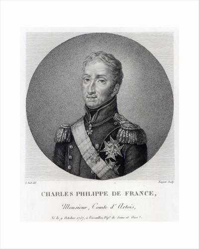 Portrait of Charles of France, Count of Artois, future Charles X King of France and Navarre by Alexandre Jean Noel
