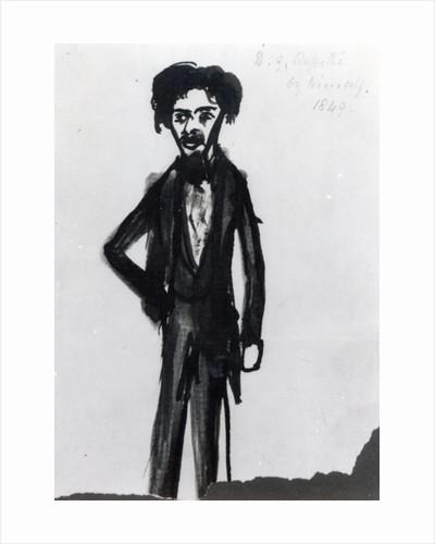 Self Portrait by Dante Gabriel Charles Rossetti