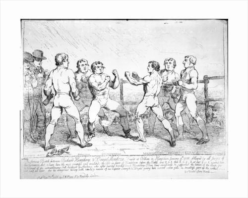 The Famous Battle Between Richard Humphreys and Daniel Mendoza, January 9th 1788 by James Gillray