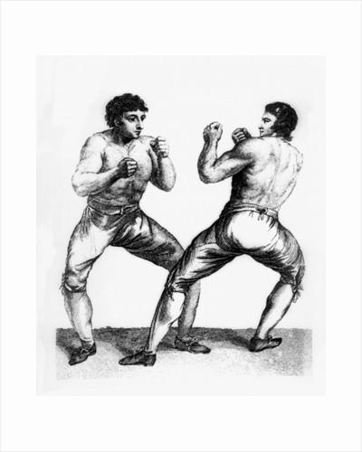 Boxing Match Between Daniel Mendoza and Richard Humphreys by Charles Reuben Ryley