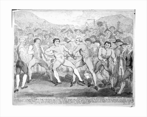 Boxing match between Thomas Futrell and John Jackson, June 9th 1788 by James Gillray