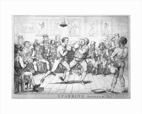 Sparring by Isaac Robert Cruikshank