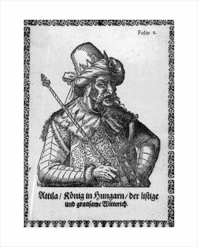 Attila the Hun by German School