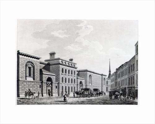 Newgate prison by Thomas Malton Jnr.