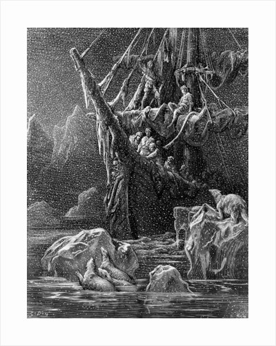 Ship in Antartica by Gustave Dore