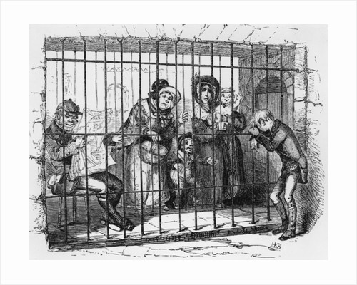 Kit in Jail by Hablot Knight Browne